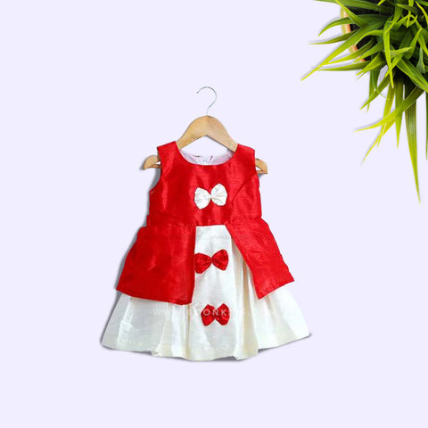 Red  Butterfly Frock