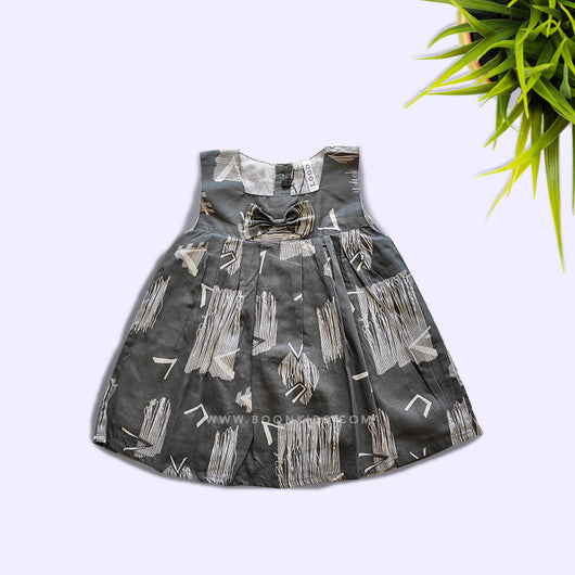 Premium Print Grey Cotton Frock