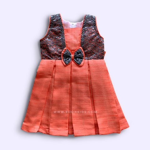 Orange wings frock