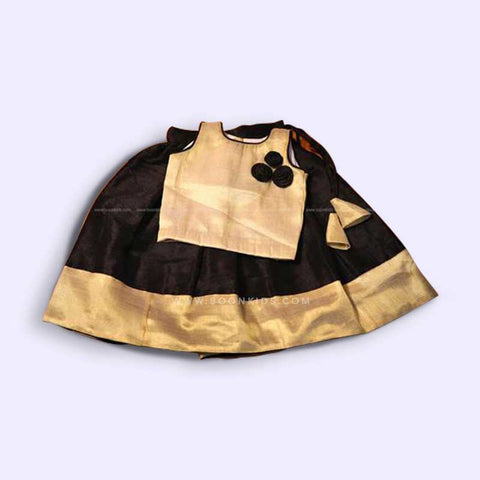 Black & Golden Skirt And top