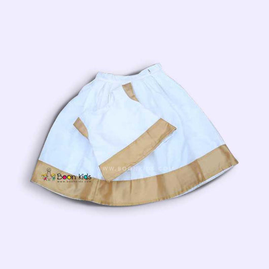 White & Golden Skirt and Top