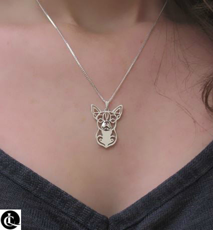 Adorable Proud Chihuahua Necklace. Wear your pride!