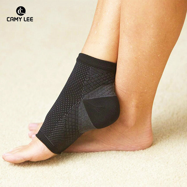 Plantar Faciitis Travel Compression Sleeves - Better than night splint socks.  Relief from Ankle Pain.  Perfect For Travel