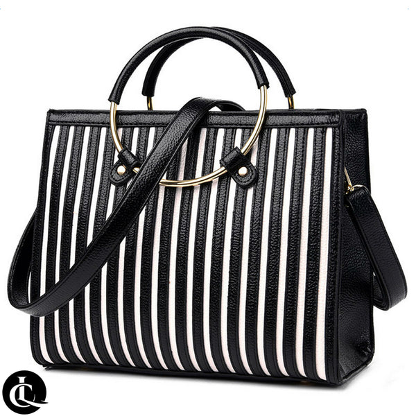 Ring-a-Round Striped Tote Bag