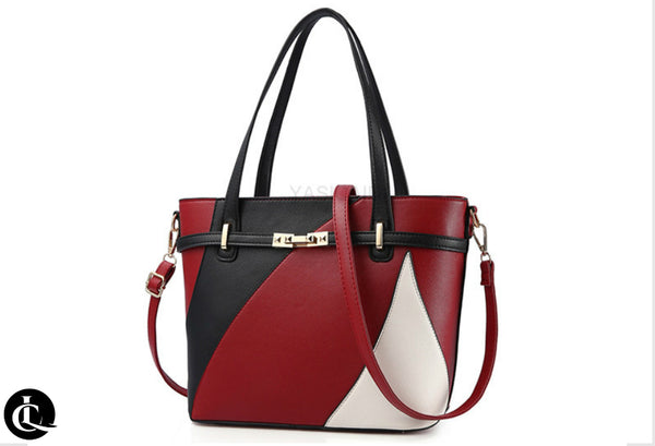 Women's Patchwork Leather Tote Bag