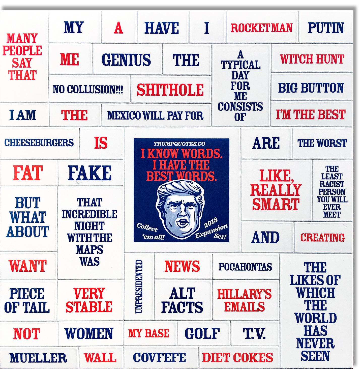 2018 Expansion Set! Trump Quotes Poetry Magnets