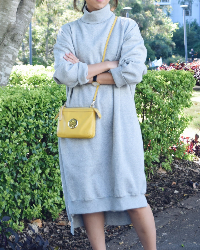 Polo neck casual dress