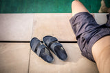 Sandal Black leather waterproof