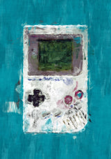 Gameboy Poster. Gameboy Painting Print.