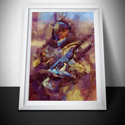 Overwatch Poster. Overwatch Ana sniper Painting Print.