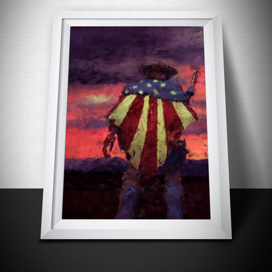 Overwatch Poster. Overwatch McCree Sunset Painting Print.