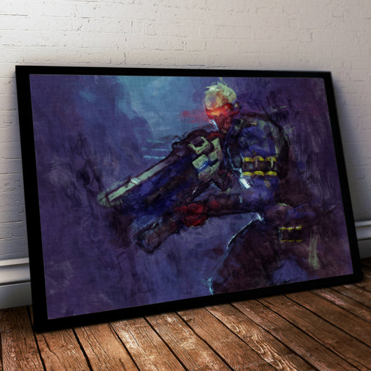 Overwatch Poster. Overwatch  Soldier 76 Painting Print.