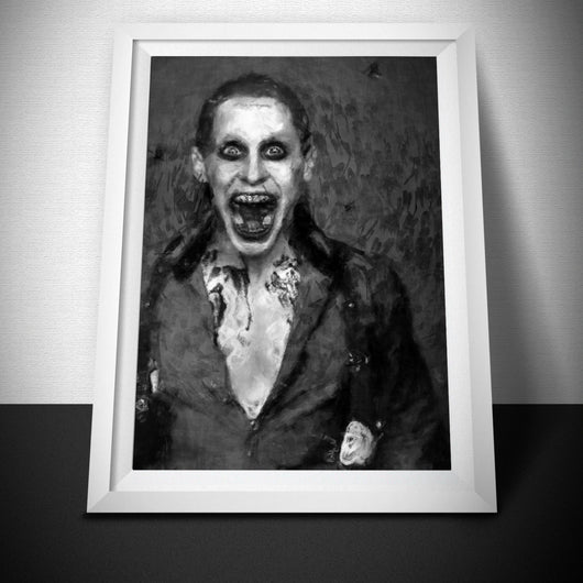 Suicide Squad Poster. Joker Mono Painting Print.