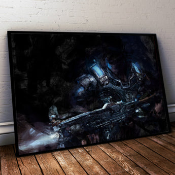 Gears of War Painting Print. COG ARMOUR Poster .