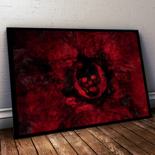 Gears of War Painting Print. Gears logo Poster .