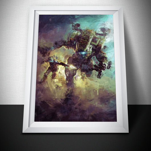 TitanFall 2 Painting Print. TitanFall Poster .