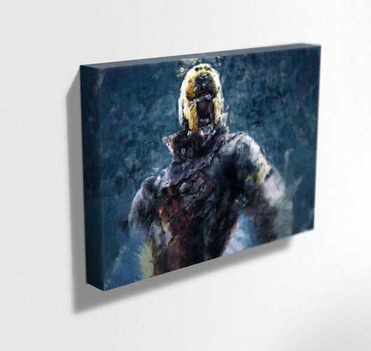 Destiny Canvas. Destiny Warlock Painting Print on Mounted Canvas