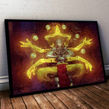 Overwatch Poster. Overwatch Zenyatta Painting Print. Mounted Canvas also in store.