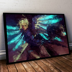 Overwatch Poster. Overwatch  Mercy  Painting Print.