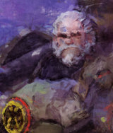 Overwatch Poster. Overwatch  Reinhardt Without Helmet Painting Print.