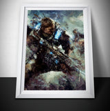 Gears of War Painting Print. Gears of War 4 Poster .