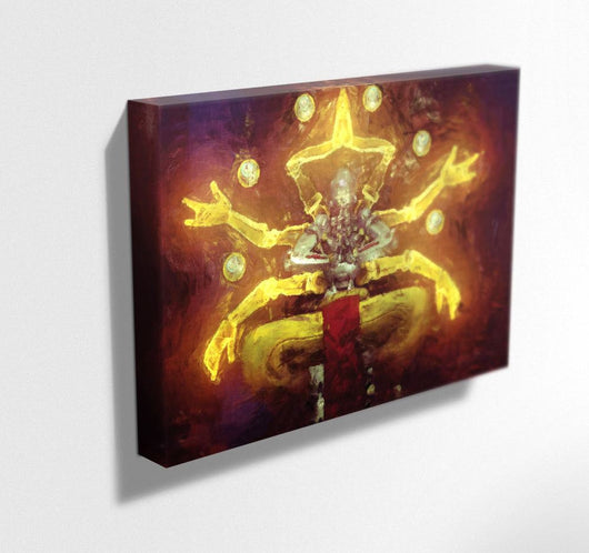 Overwatch Canvas. Zenyatta Mounted Canvas Print