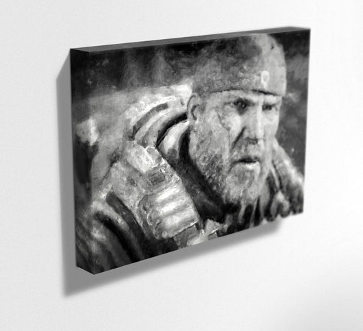 Gears Of War Canvas. Gears of War Painting Print on Mounted Canvas
