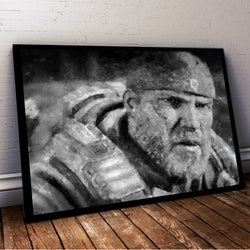 Gears of War Painting Print. Gears of War 4 Poster . Mounted Canvas also available in store.