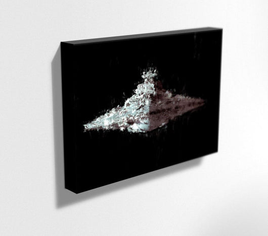 Star Destroyer Canvas. Star Wars Painting Print on Mounted Canvas