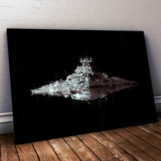 Star Destroyer Poster. Star Wars Painting Print. Mounted Canvas also in store.