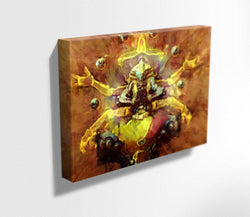 Overwatch Canvas. Zenyatta Mounted Canvas Print. Sunyatta Skin.