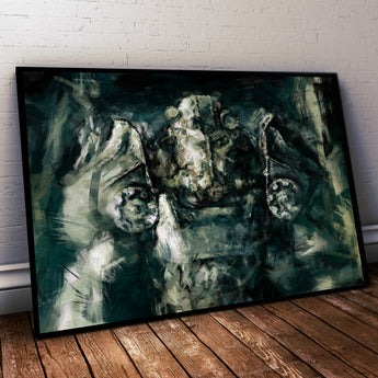 Fallout Painting Print. Brotherhood of Steel Poster .