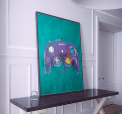 Gamecube Controller Poster. Gamecube Painting Print.