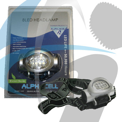8LED HEADLAMP (USES 3AAA) BATTERY