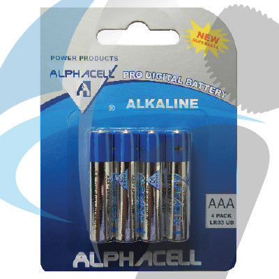 AAA ALKALINE LR03 4PC BATTERY