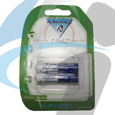 AAA NiMH 2PC 1000MaH BATTERY