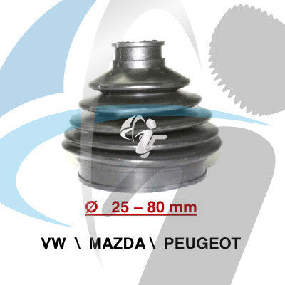 VW / MAZDA / OPEL CV BOOT 25MM-80MM
