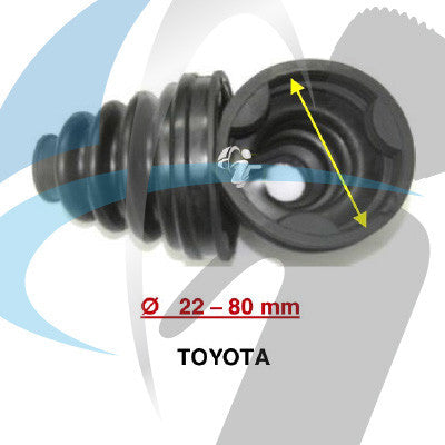 TOYOTA CV BOOT 22MM-80MM INNER