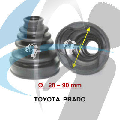 TOYOTA PRADO CV BOOT 28MM-90MM