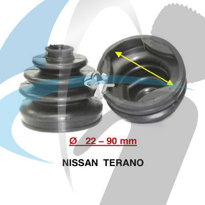NISSAN TERANO CV BOOT 22MM-90MM