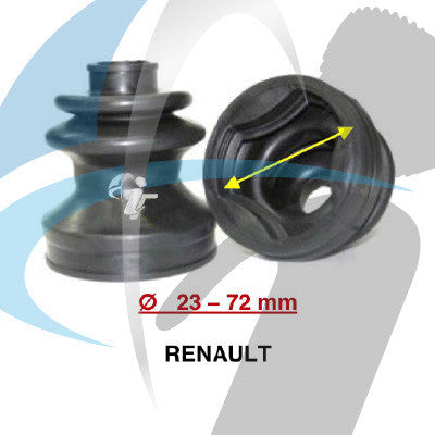 RENAULT CV BOOT 23MM-72MM INNER