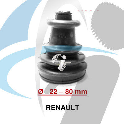 RENAULT CV BOOT 22MM-80MM