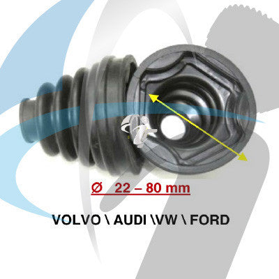 AUDI / VOLVO / VW CV BOOT 22MM-80MM INNER