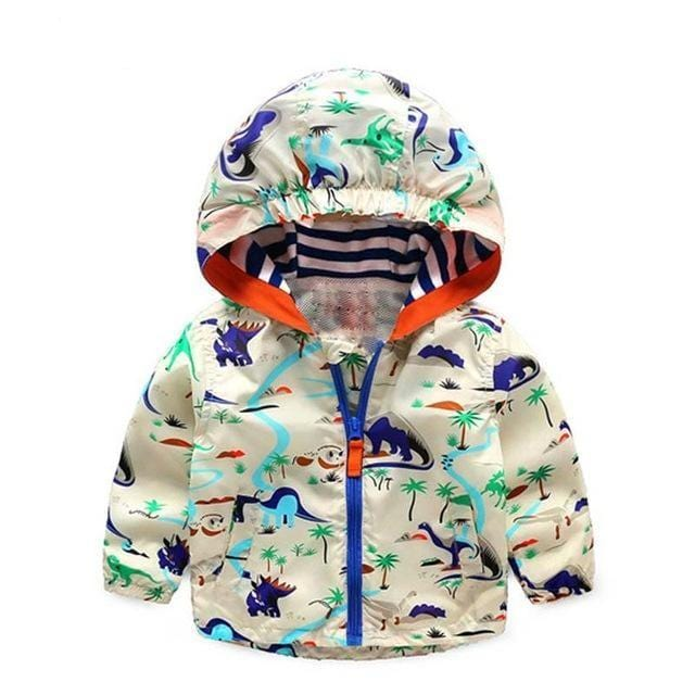 Kids Hooded Dinosaur Jackets (1-6 years) - Mini Chic Outlet