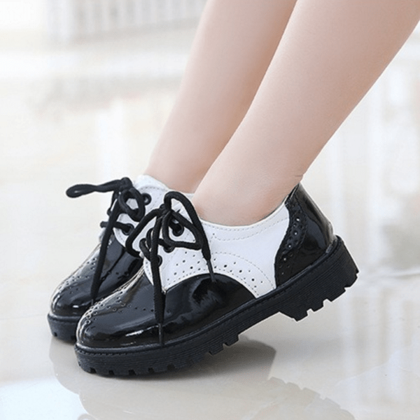 Kids Brogue Patent Shoes 3-12 Years - Mini Chic Outlet