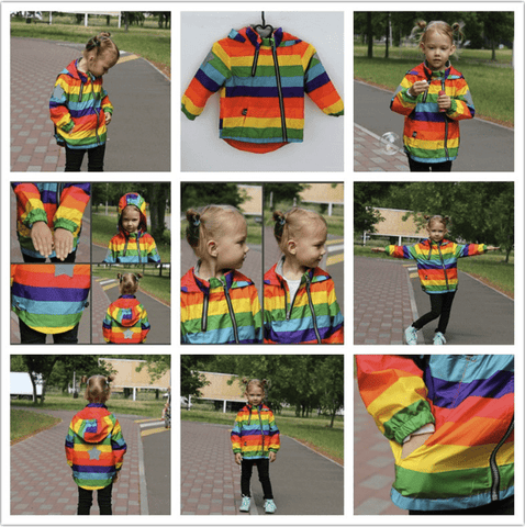Kids Rainbow Rain Coat (1-6 Years) - Mini Chic Outlet