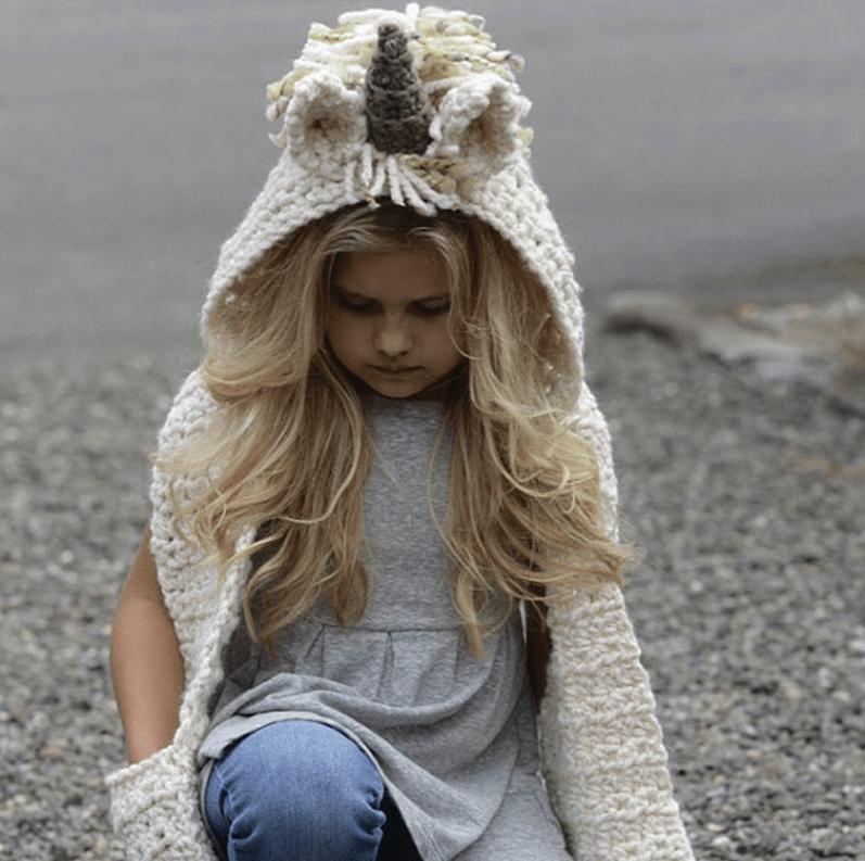 Stunning Handmade Unicorn Hat Scarf And Gloves Combo (3 - 10 years) - Mini Chic Outlet