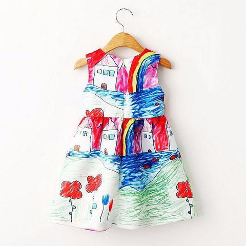 Image of Girls Designer Summer Princess Dress (2-8 Years) - Mini Chic Outlet