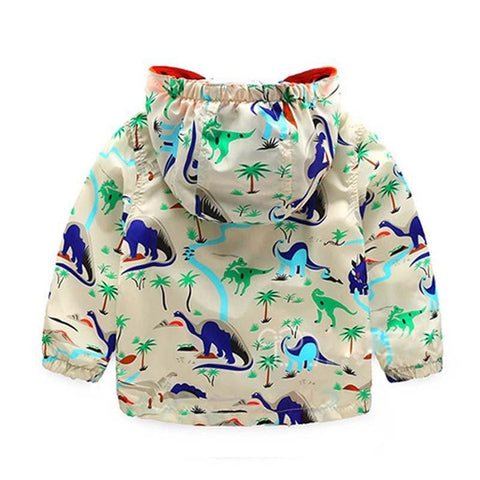 Image of Kids Hooded Dinosaur Jackets (1-6 years) - Mini Chic Outlet