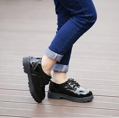Image of Kids Brogue Patent Shoes 3-12 Years - Mini Chic Outlet